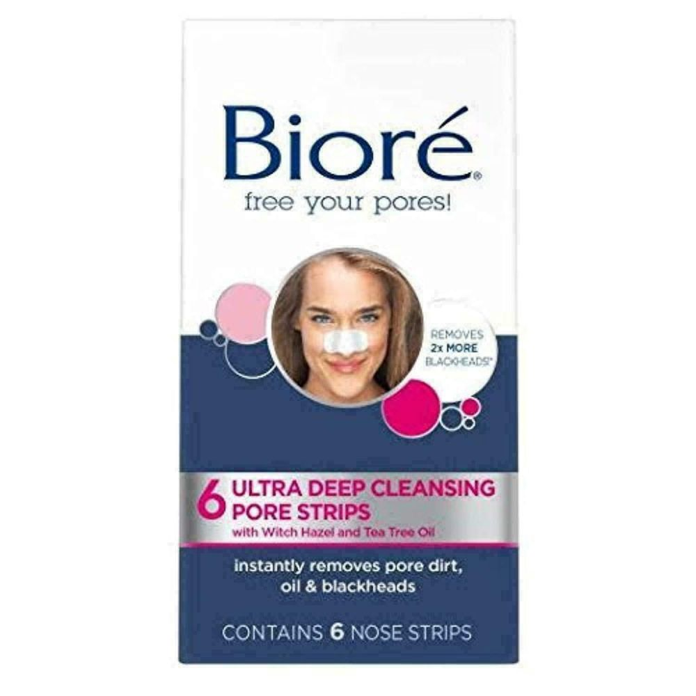 6x Biore Ultra Deep Cleansing Pore Strips